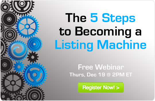 (English) How can you set yourself up to be a Listing Machine? [WEBINAR]