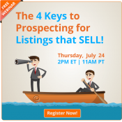 Free Webinar | The 4 Keys to Prospecting for Listings that SELL | Keeping Current Matters