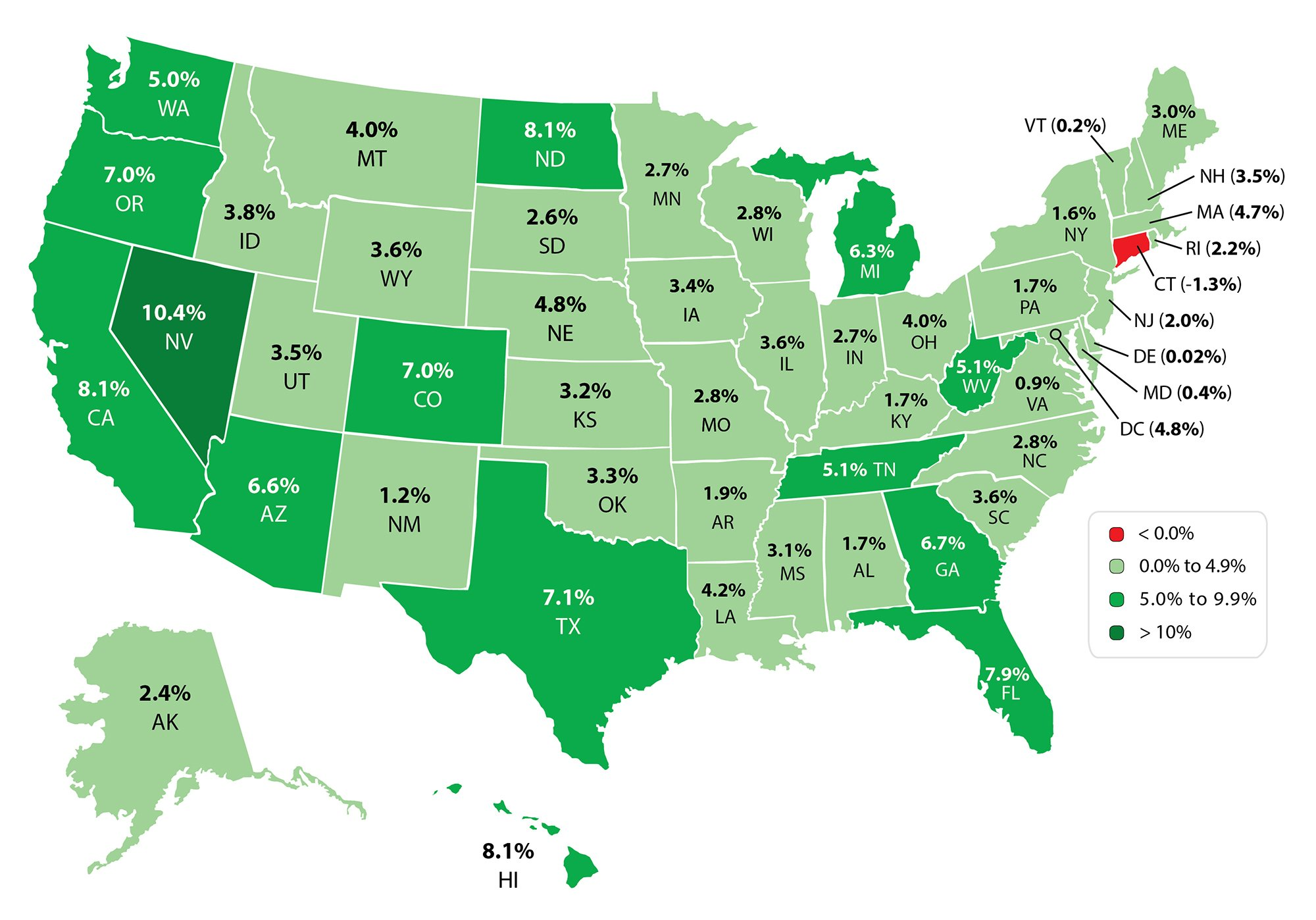 FHFA State Map 2014 3Q | Keeping Current Matters