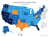 Forecasted Price Appreciation Year-Over-Year | Keeping Current Matters