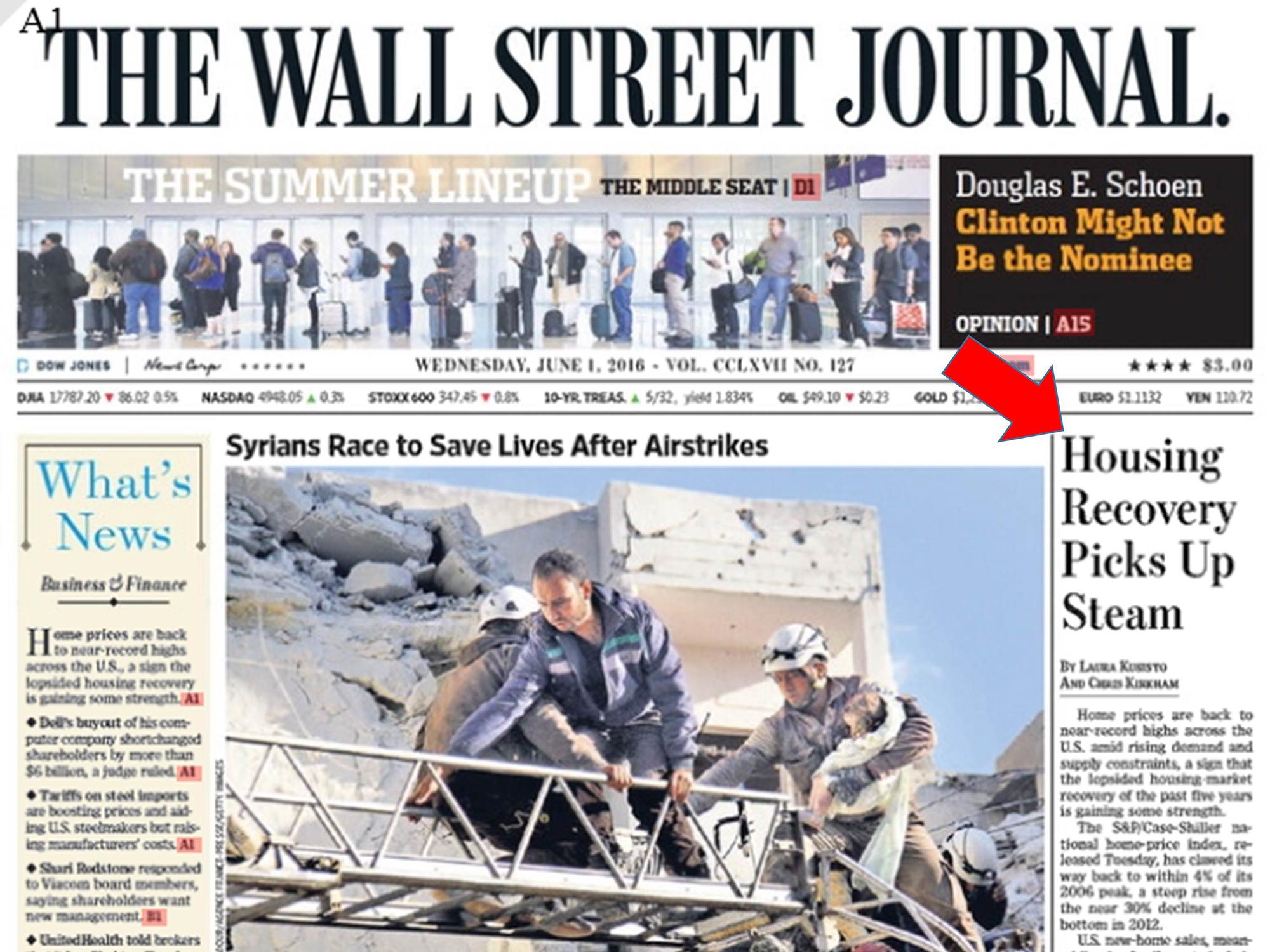 Wall Street Journal: Housing Recovery Picks Up Steam   Keeping Current Matters