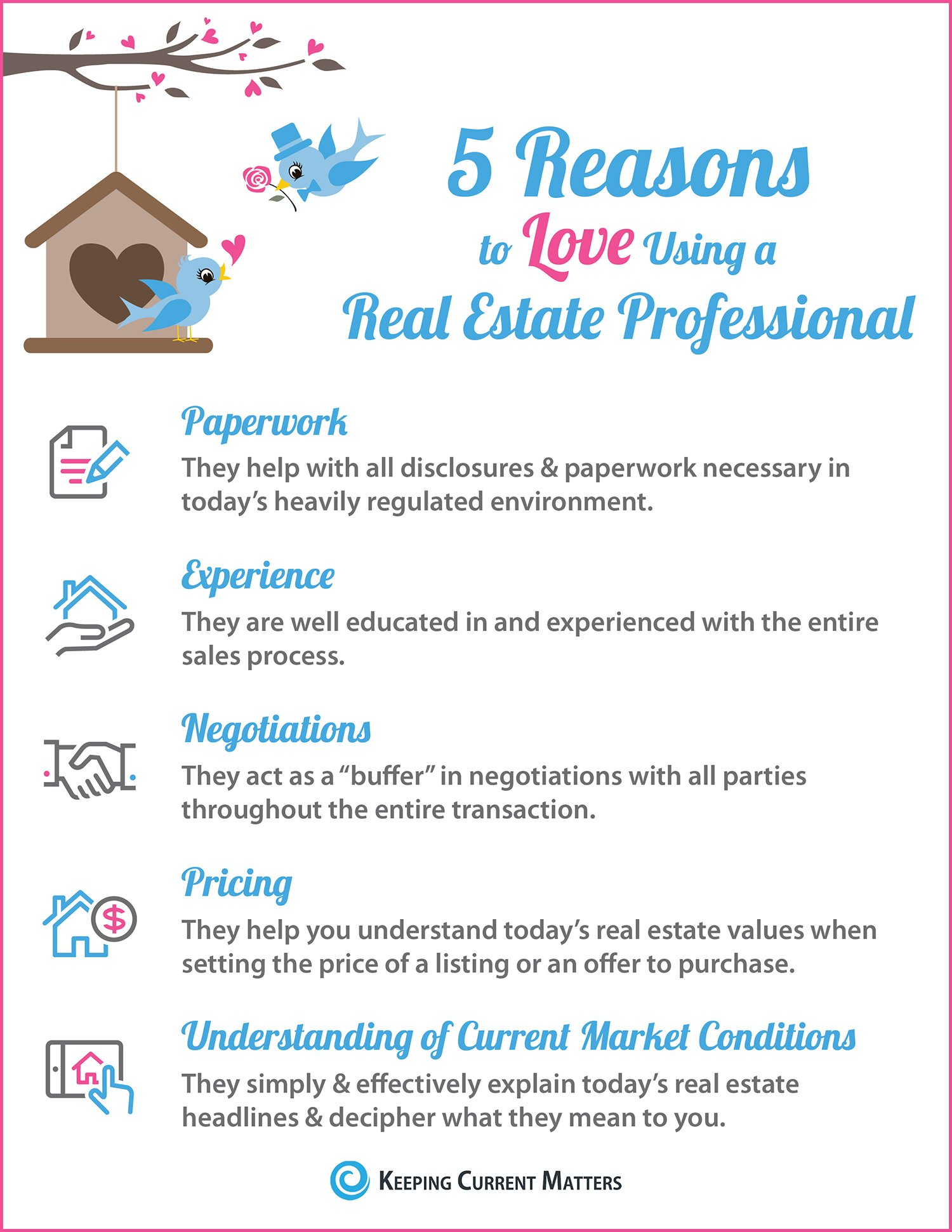 5 Reasons to Love Using A RE Pro [INFOGRAPHIC] | Keeping Current Matters