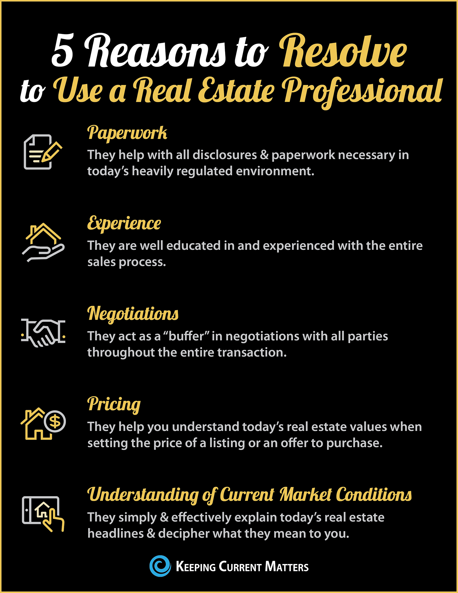 Buying or Selling in 2018? 5 Reasons to Resolve to Hire a Pro [INFOGRAPHIC] | Keeping Current Matters