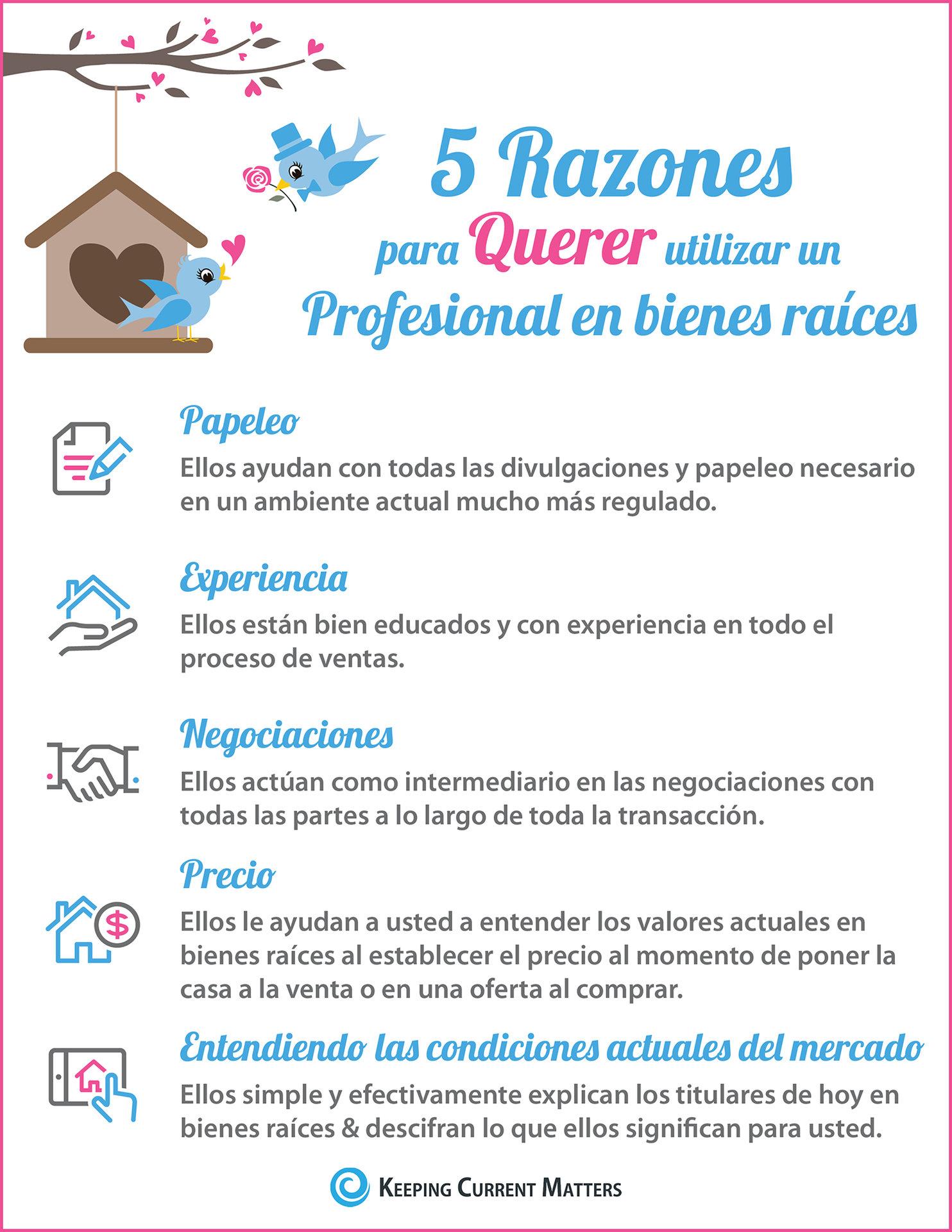 5 Razones para querer utilizar un profesional en bienes raíces [infografía] | Keeping Current Matters