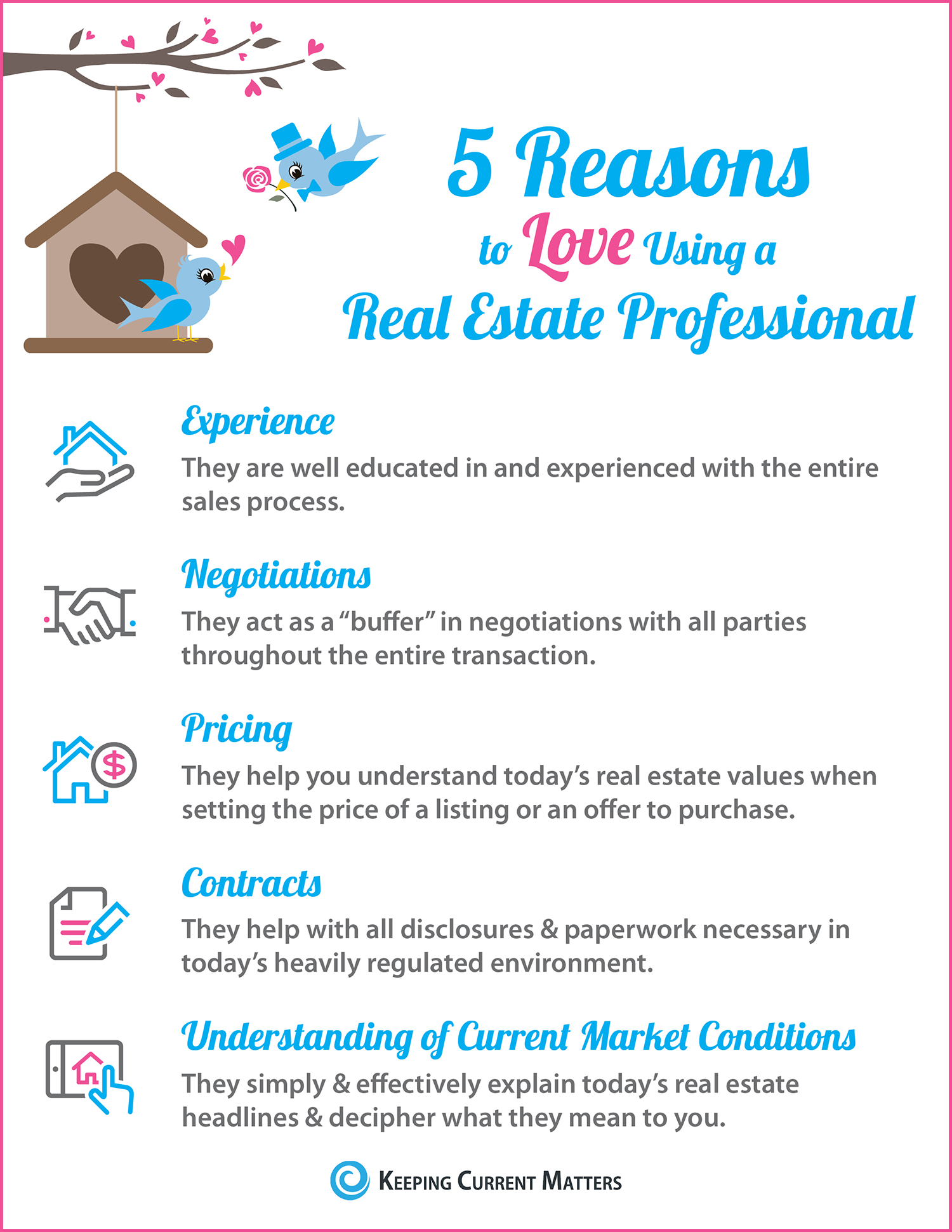5 Reasons to Love Hiring A Real Estate Pro [INFOGRAPHIC] | Keeping Current Matters