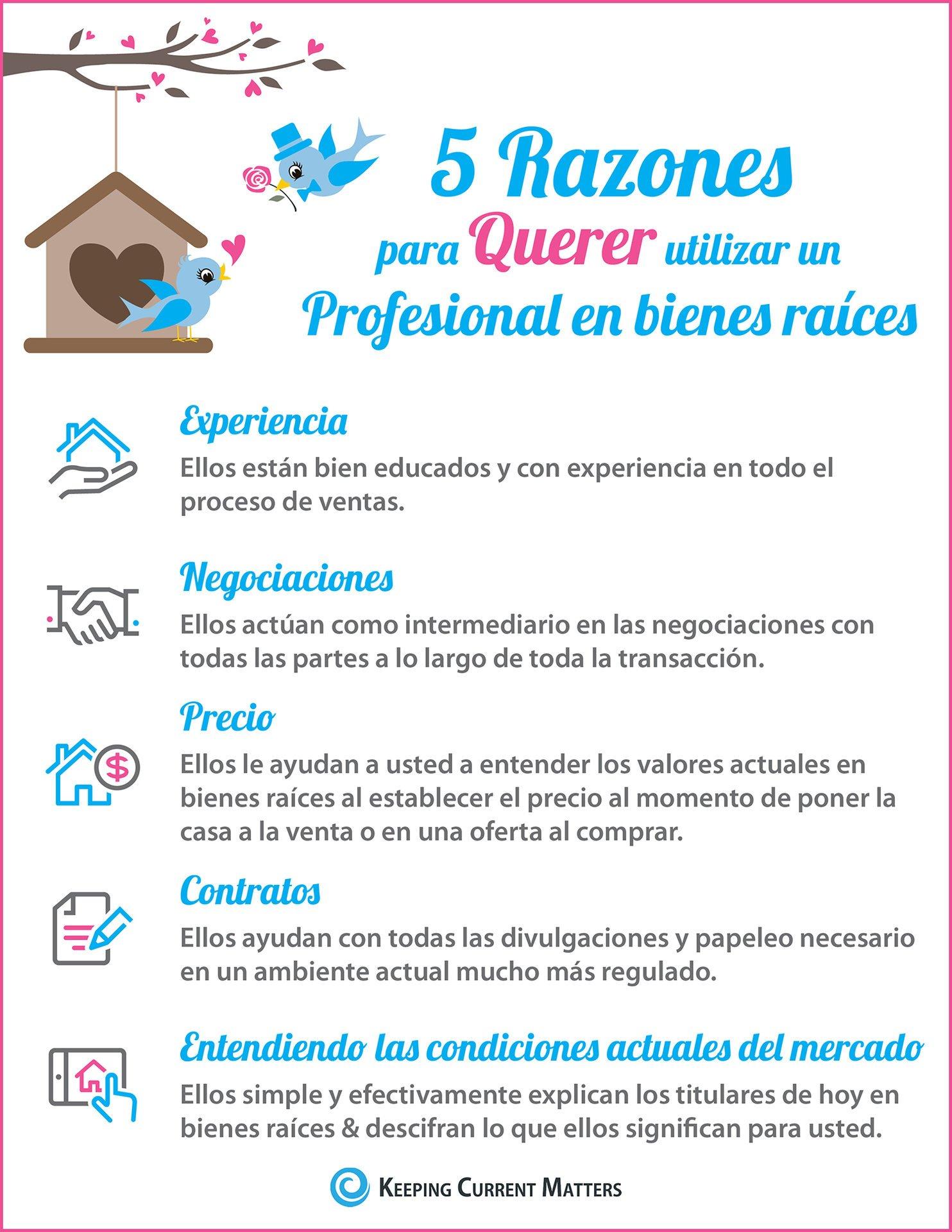 5 razones para querer contratar un profesional en bienes raíces [infografía] | Keeping Current Matters