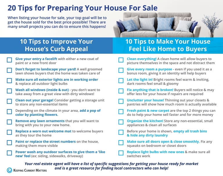20 Tips for Preparing Your House for Sale This Spring [INFOGRAPHIC] | Keeping Current Matters
