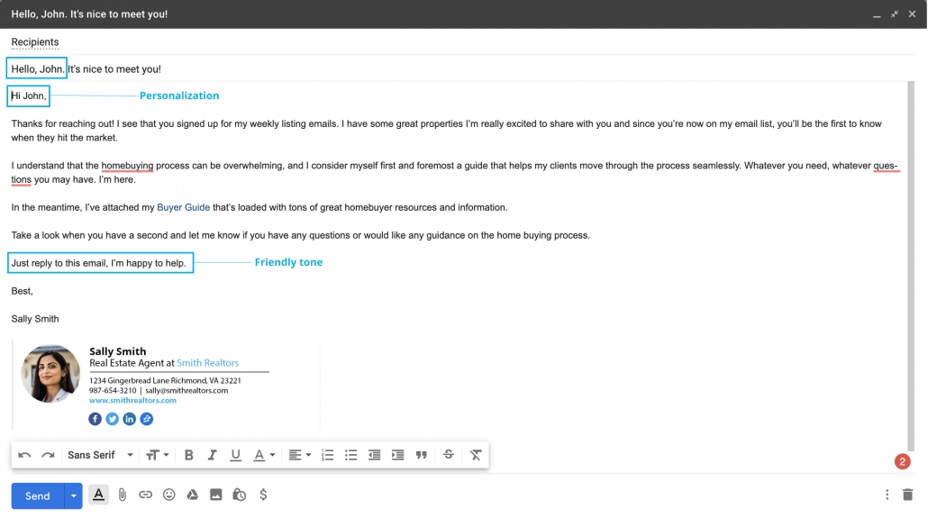 Sales emails should be written like you're emailing a friend.