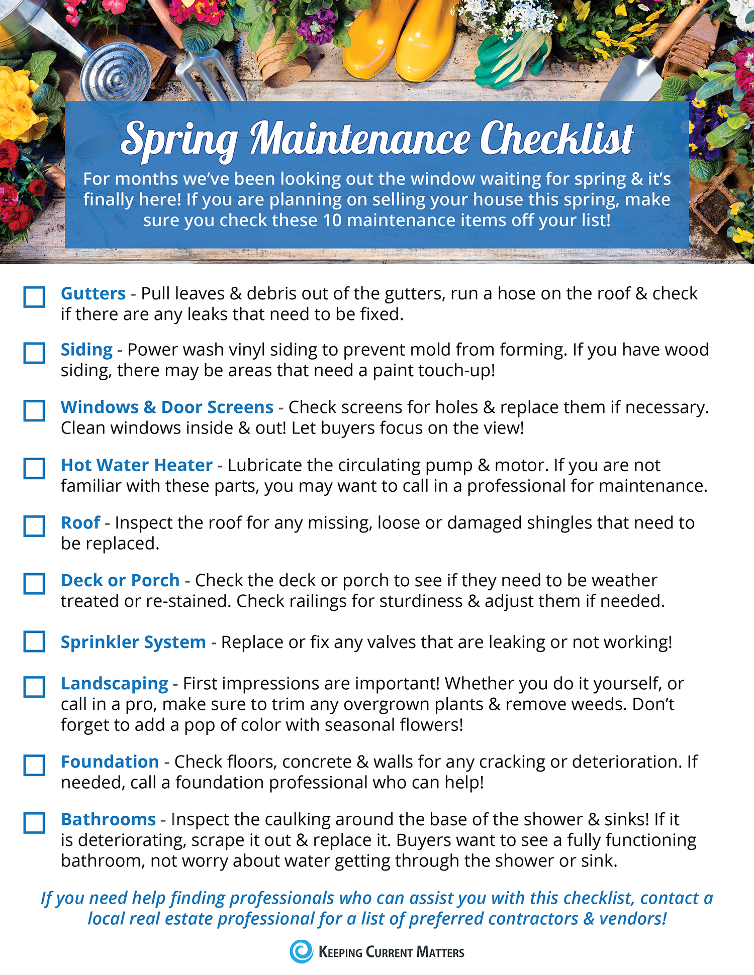 Your Home's Spring Maintenance Checklist [INFOGRAPHIC] | Keeping Current Matters