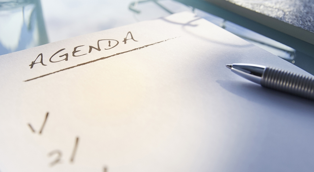 Have an agenda and sticking with it is an important part of time management and success for real estate agents.