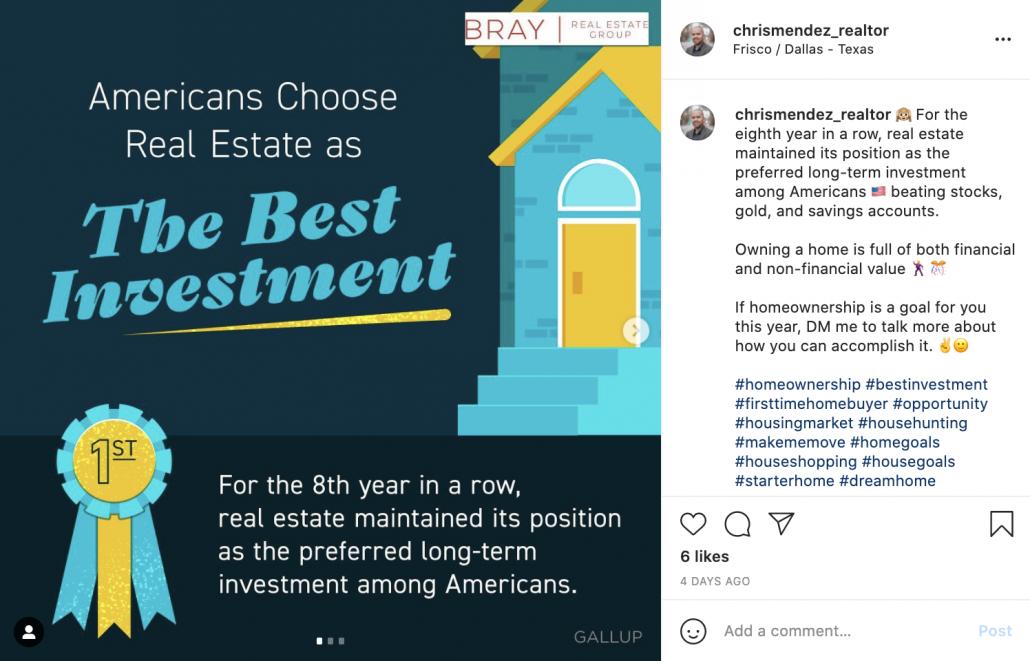 real estate news instagram post ideas
