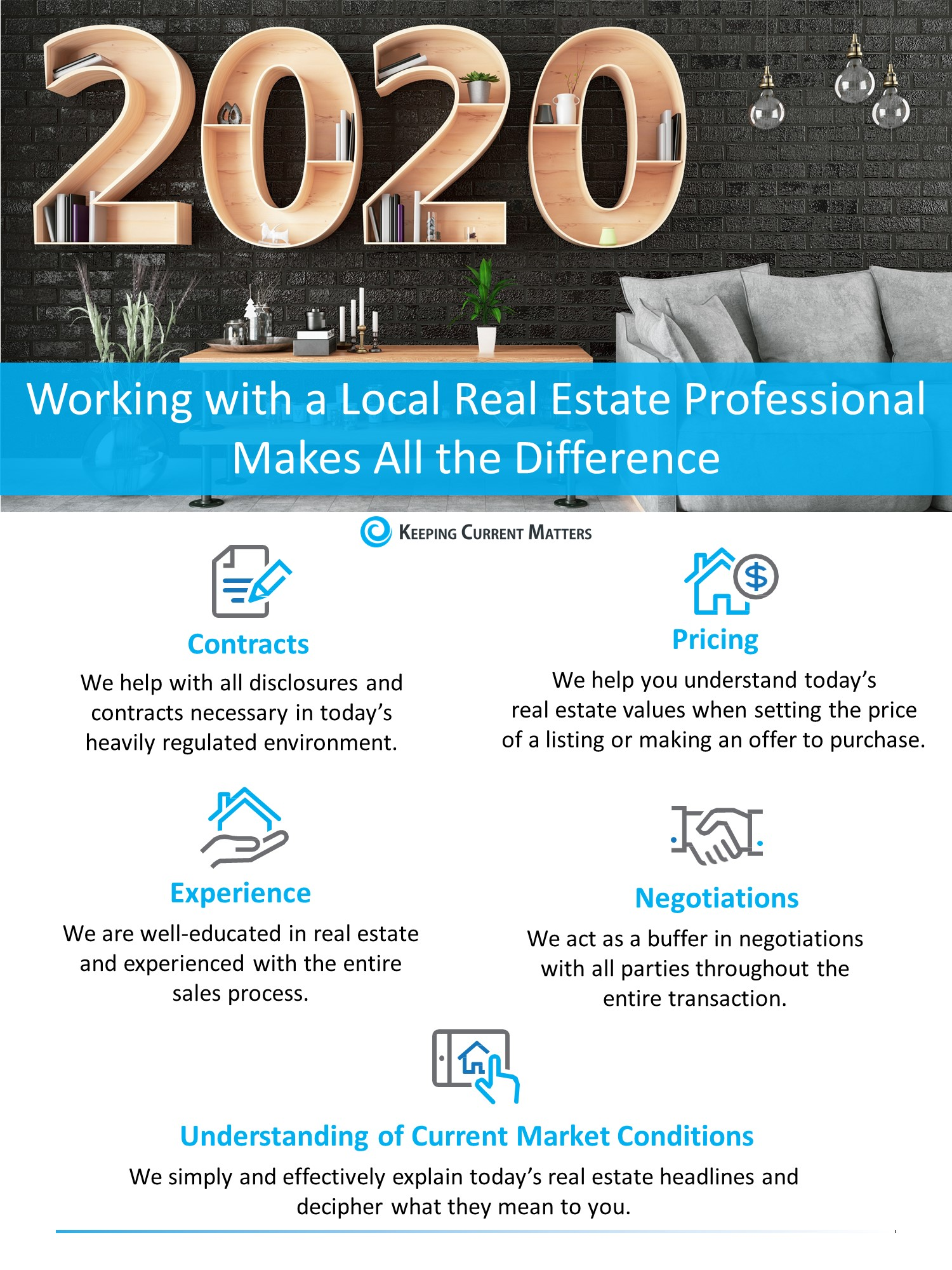 Working with a Local Real Estate Professional Makes All the Difference [INFOGRAPHIC] | Keeping Current Matters
