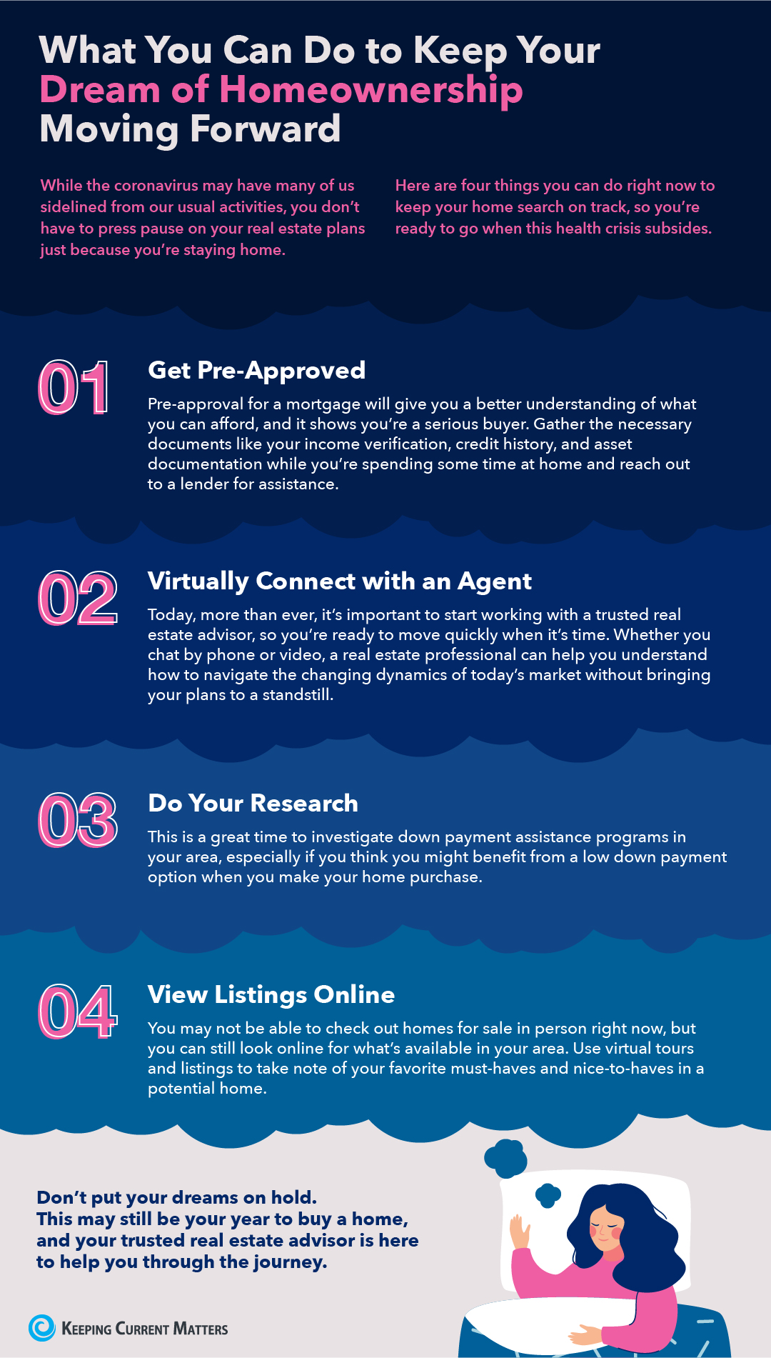 What You Can Do to Keep Your Dream of Homeownership Moving Forward [INFOGRAPHIC] | Keeping Current Matters