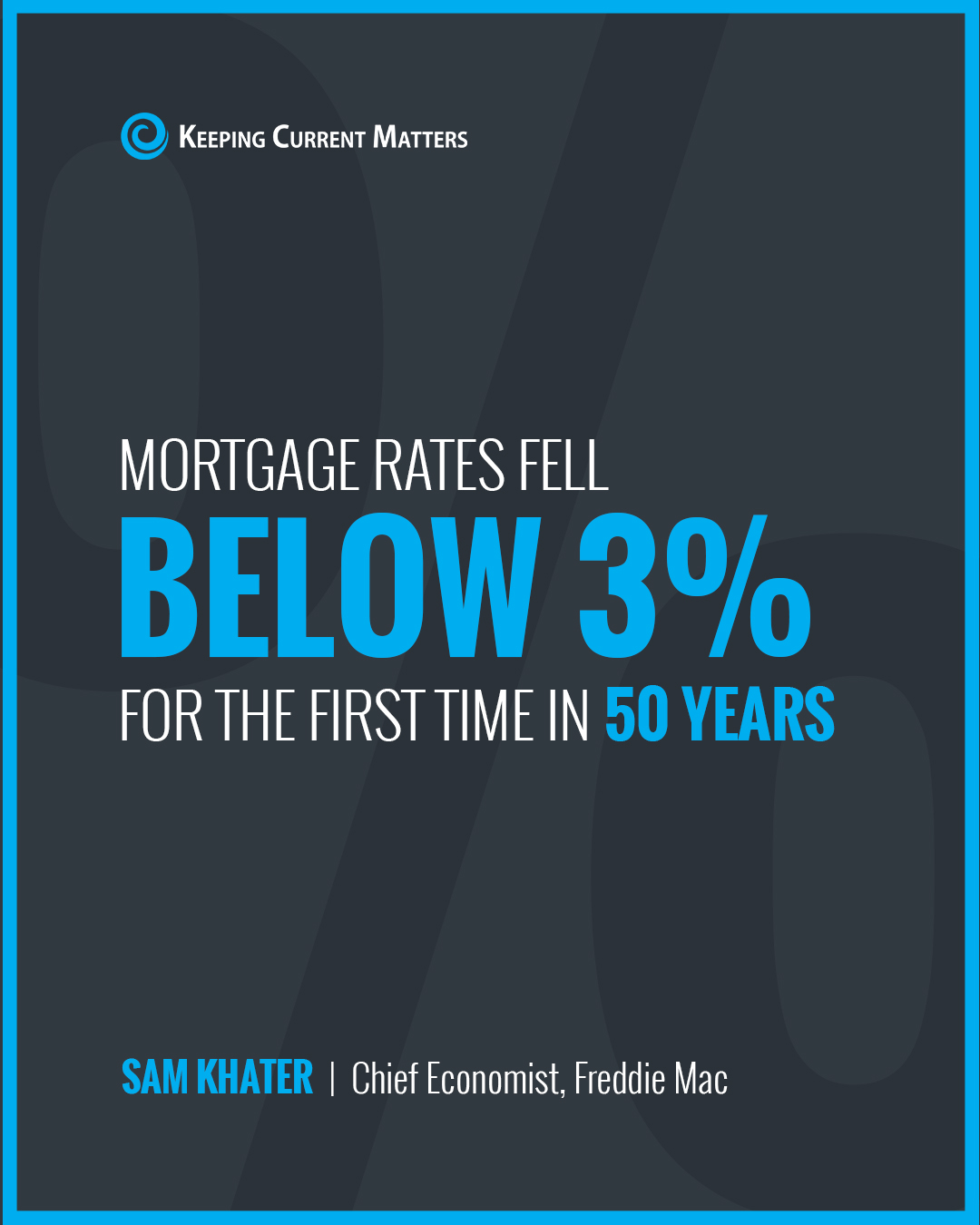 Mortgage Rates Fall Below 3% [INFOGRAPHIC] | Keeping Current Matters